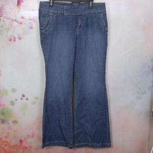 Tommy Hilfiger mid rise wide leg jeans siz…